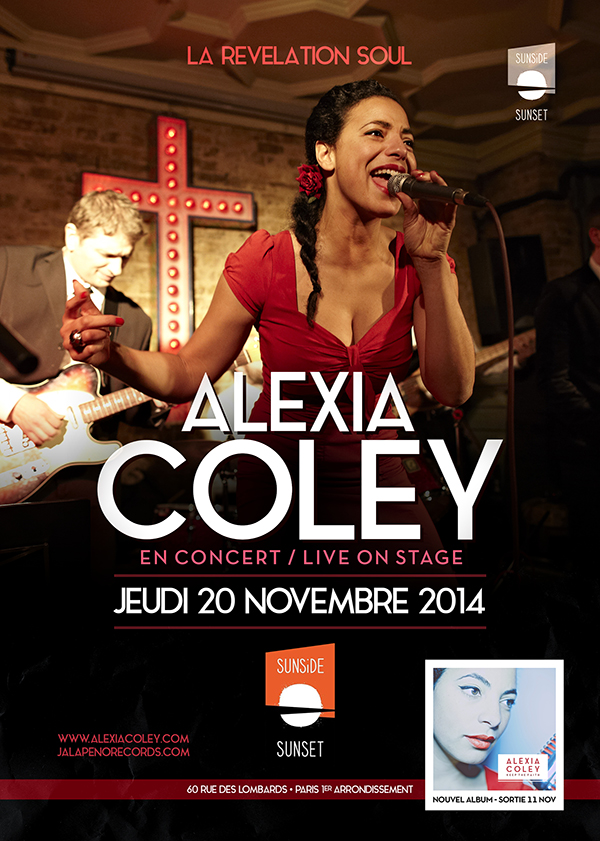 ALEXIA COLEY en concert au SUNSET à Paris