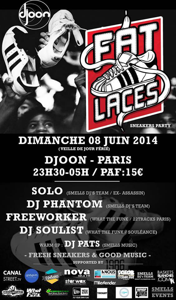 FAT LACES - SNEAKERS PARTY au DJOON