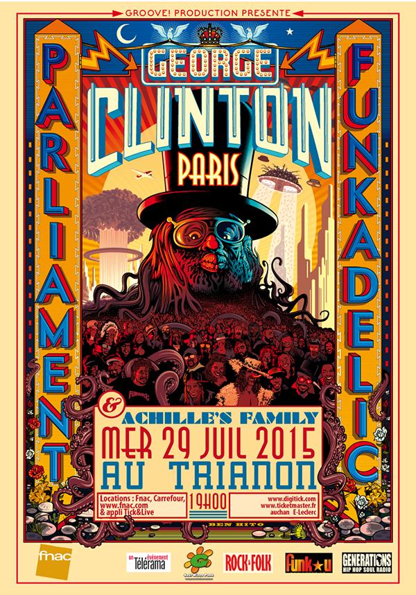 GEORGE CLINTON & PARLIAMENT FUNKADELIC au TRIANON à PARIS - 29/07/2015