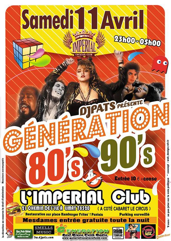 Génération 80's 90's à l'Impérial Club de Limay