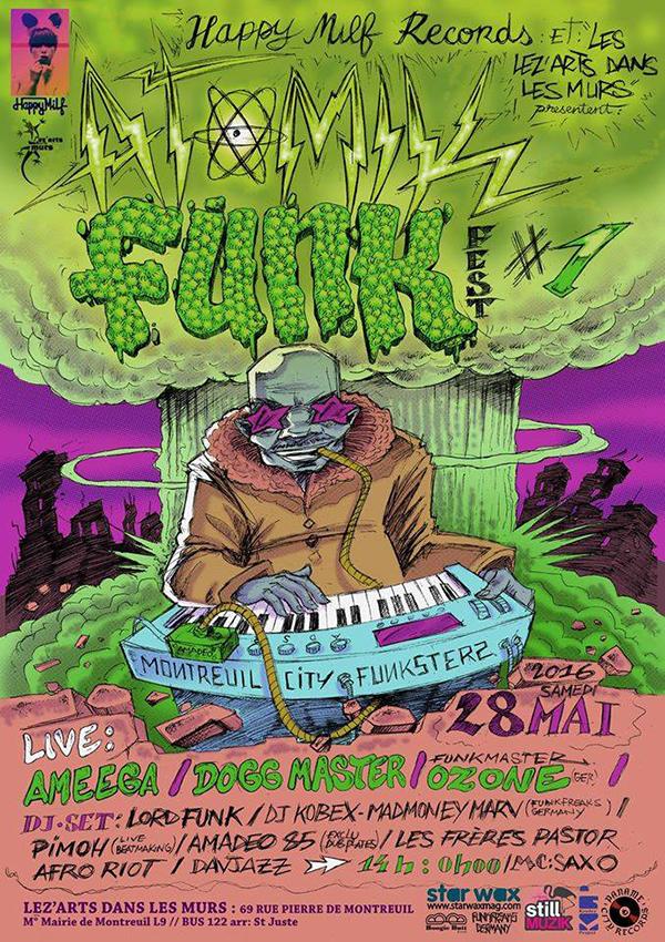 ATOMIK FUNK FEST #1 - 28/05/2016 à Montreuil (93)
