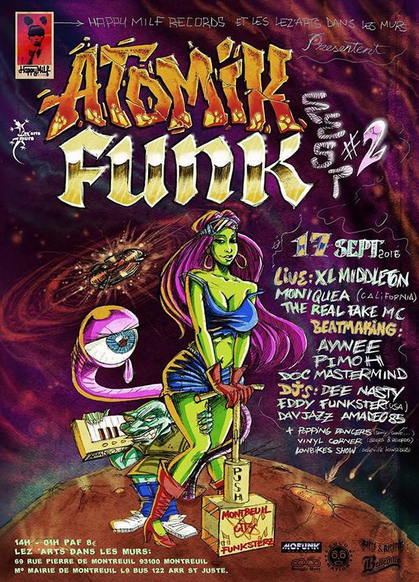 ATOMIK FUNK FEST #2 - 17/09/2016 à Montreuil (93)