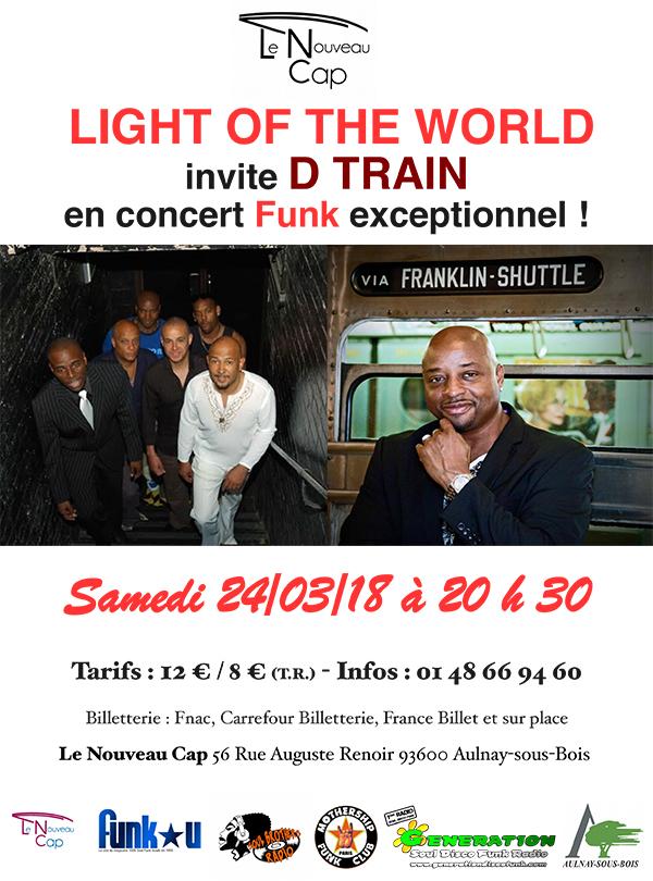LIGHT OF THE WORLD Invite D-TRAIN - 24/03/2018